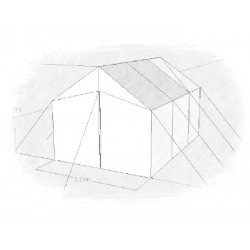 Rectangular Tent Size 3 x 4,5 m x 2,85 m (h) x 1,8 side high