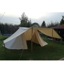 GETELD Tent 3 x 6m - LINEN - with winshields