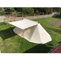Geteld Tent 3 x 6 m - cotton with front canvas